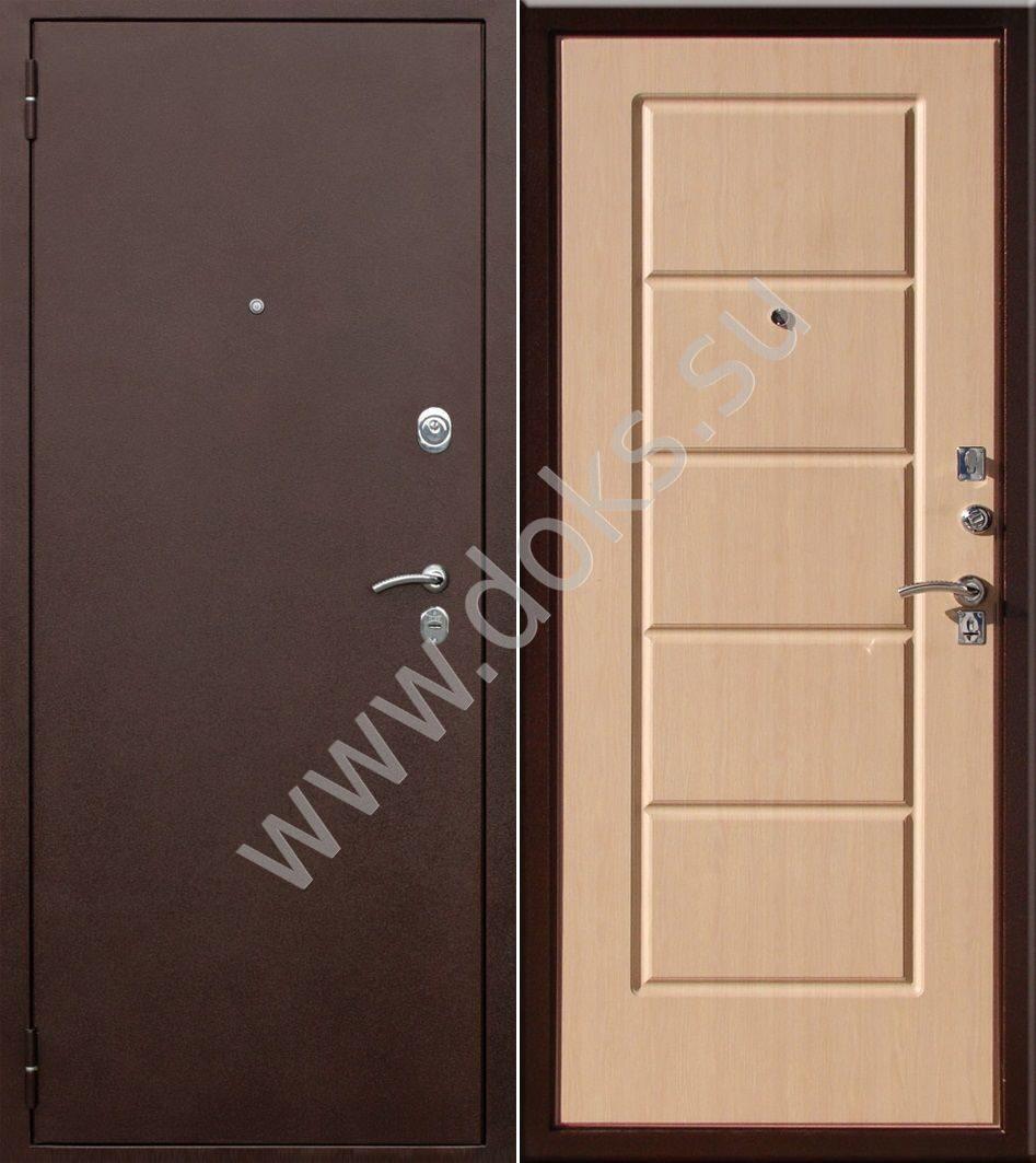 уличные железные двери эконом класса